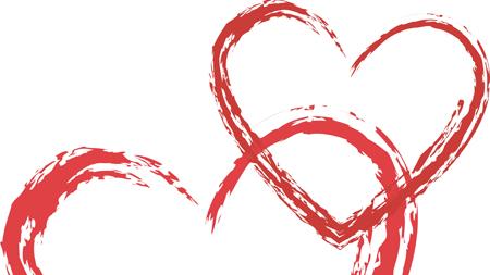 røde hjerter