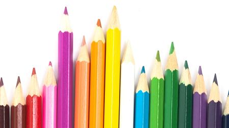Farvestrålende tegneblyanter