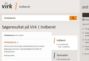 Adgang til webankeskema via virk.dk